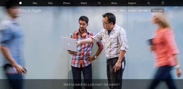 employer brand career site apple