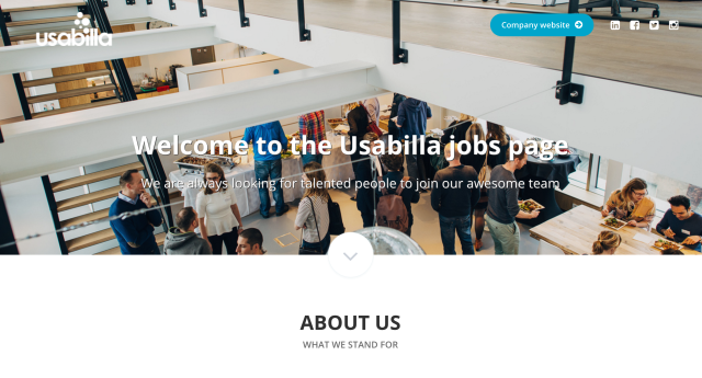 employer branding career site usabilla recruitee