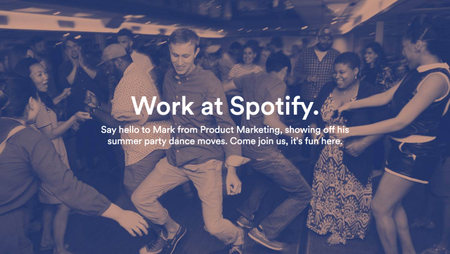 employer brand career site spotify