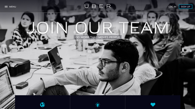 employer branding career site uber