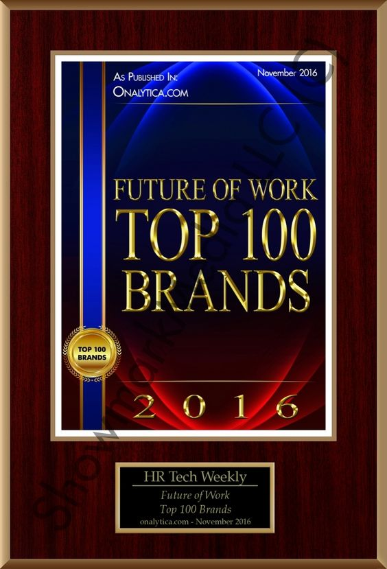 The HR Tech Weekly® ▸ Future of Work: Top 100 Brands Recognition