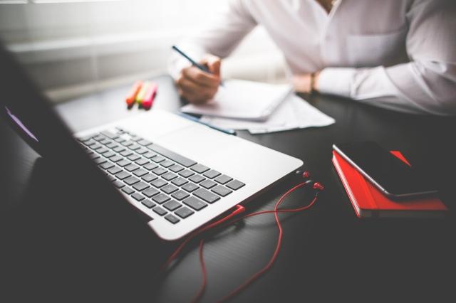 Entrepreneur Working on His MacBook