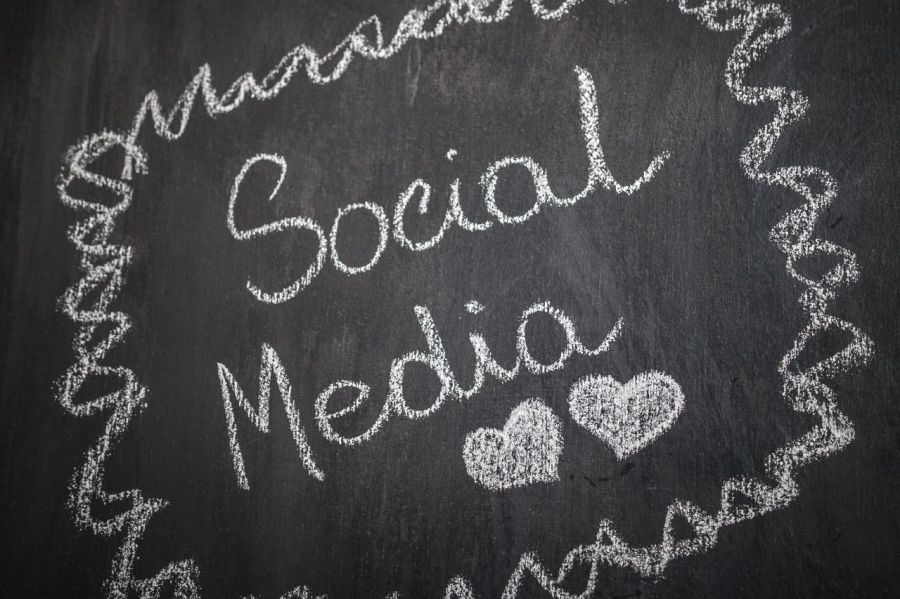 White Chalkboard Writing | Social Media
