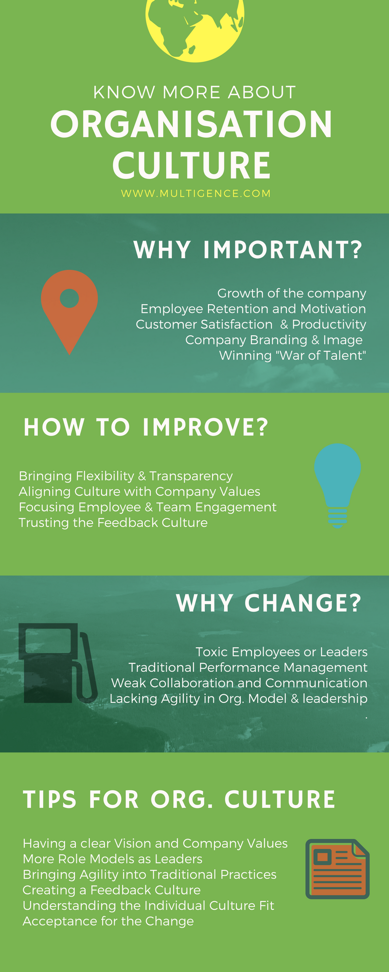 Organisation Culture in Infographics from Multigence